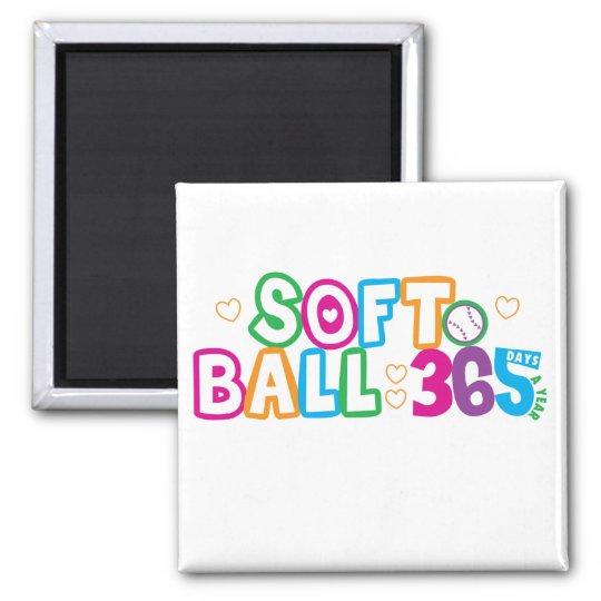 365 Softball Magnet
