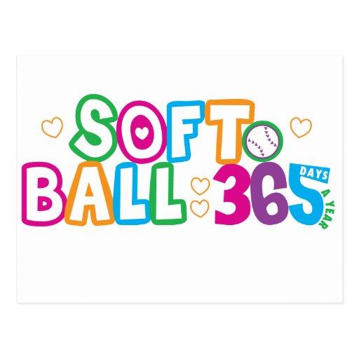 365 Softball Postcard