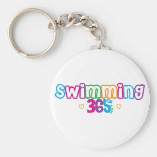 365 Swimming Basic Round Button Keychain