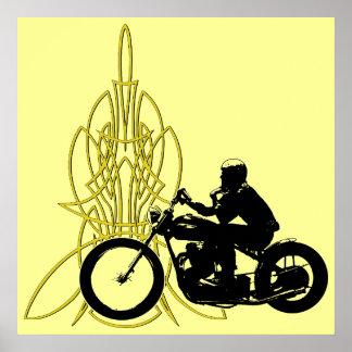 365 Vintage Rider Print