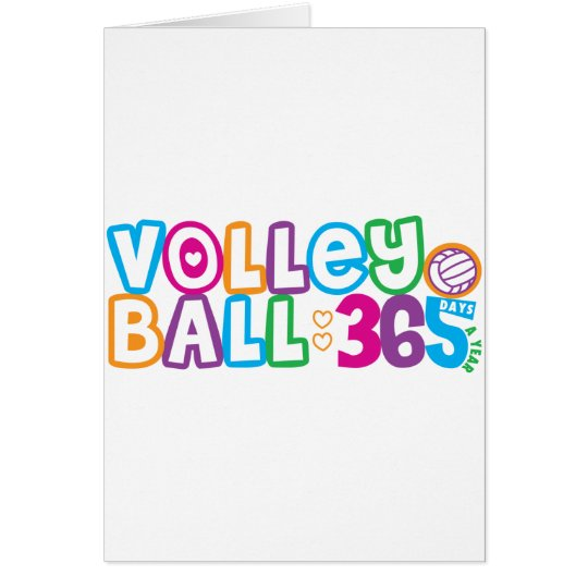 365 Volleyball Card