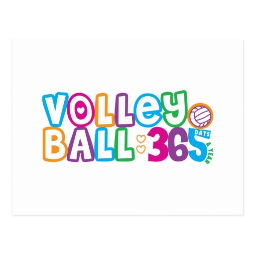 365 Volleyball Postcard