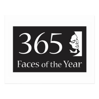 365Faces of the Year Postcard