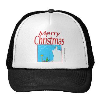 366 Merry Christmas polar bear fishing for elf Trucker Hat