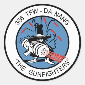366o Combatiente de la O.N.U del TFW G Pegatina Redonda