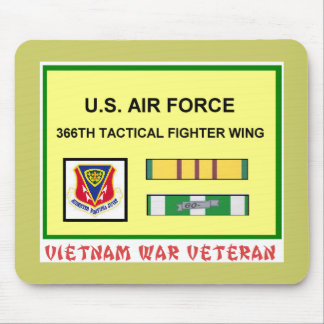 366TH TACTICAL FIGHTER WING VIETNAM WAR VET MOUSE PAD