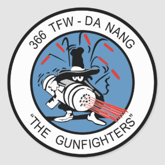 366th TFW  G un Fighter Stickers