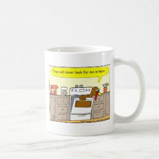 367 turkey in oven Cartoon Coffee Mug