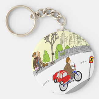 368 smart car bike rack cartoon basic round button keychain