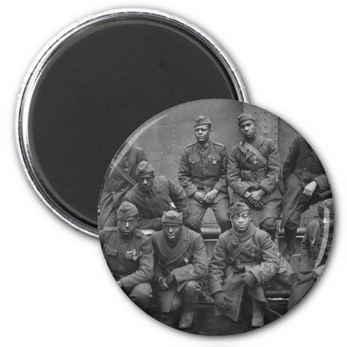 369th New York National Guard Harlem Hellfighters 2 Inch Round Magnet