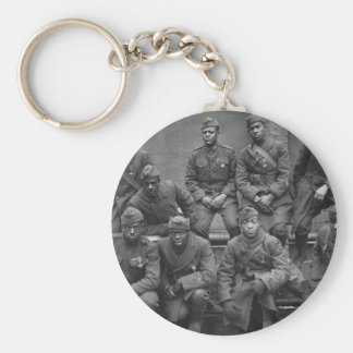 369th New York National Guard Harlem Hellfighters Basic Round Button Keychain