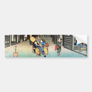 36. 御油宿, 広重 Goyu-juku, Hiroshige, Ukiyo-e Pegatina Para Auto