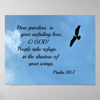 36:7 del salmo cómo es inestimable es su amor póster