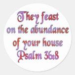 36:8 del salmo pegatina