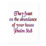 36:8 del salmo tarjeta postal
