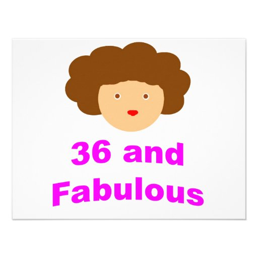 36 and Fabulous! Personalized Invites