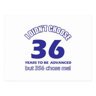 36 años de adelanto postales