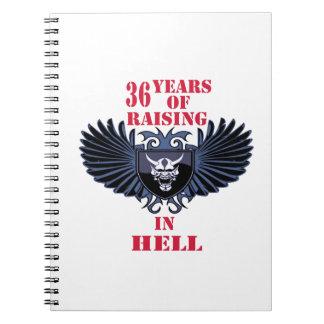36 años de aumento en infierno libreta espiral