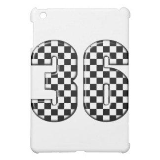 36 auto racing number iPad mini cases