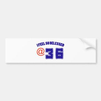 36 birthday design car bumper sticker