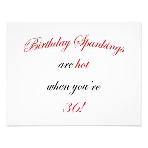 36 Birthday Spanking Invites
