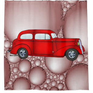 36 Chevy 2 Door Sedan Shower Curtain