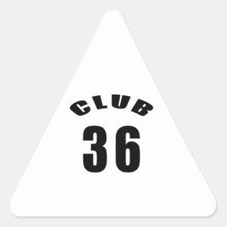 36 Club Birthday Designs Stickers