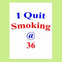 36 I Quit Smoking Postcard