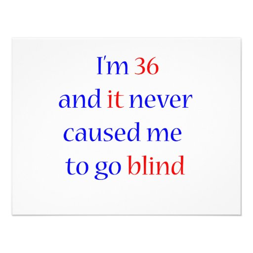 36 never gone blind personalized invites