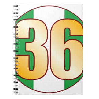 36 NIGERIA Gold Spiral Notebook