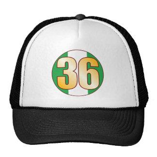 36 NIGERIA Gold Trucker Hat