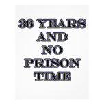 36 ninguna hora de prisión membrete a diseño