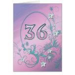 36.o Tarjeta de cumpleaños con las estrellas del d