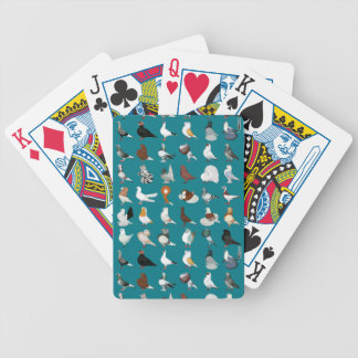 36 Pigeon Breeds Bicycle Playing Cards