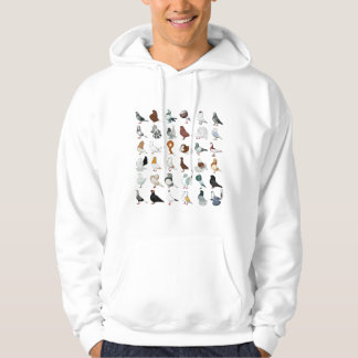 36 Pigeon Breeds Hooded Pullovers
