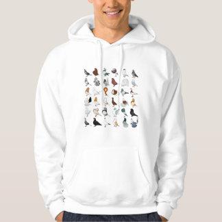 36 Pigeon Breeds Hoodie