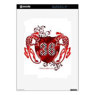 36 racing numbers tigers decals for iPad 2