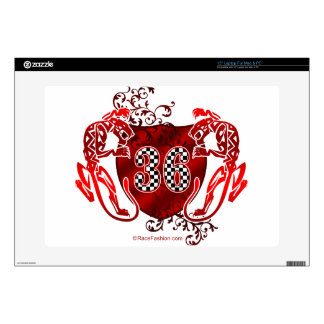 36 racing numbers tigers laptop decal