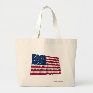 36-star flag, Global pattern Canvas Bag