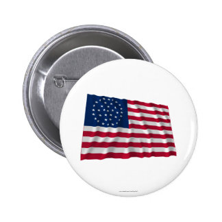 36-star flag, Global pattern Pinback Button