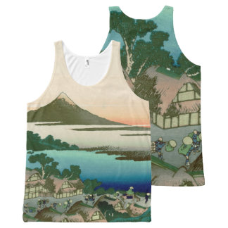 36 Views of Mount Fuji, Hokusai Fine Vintage All-Over Print Tank Top