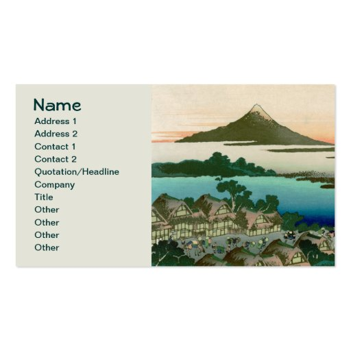 36 Views of Mount Fuji, Hokusai Fine Vintage Double-Sided Standard Business Cards (Pack Of 100)