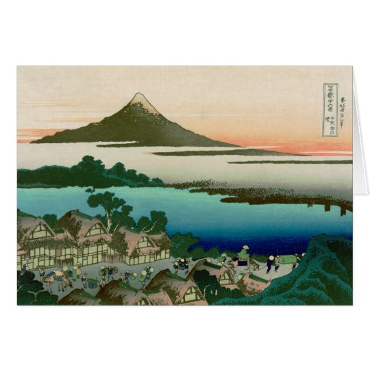 36 Views of Mount Fuji, Hokusai Fine Vintage Card