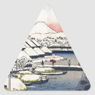 36 Views of Mount Fuji Triangle Sticker