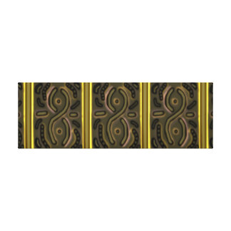 "36""x12"" Long Art Windswept Infinity Olive Green Canvas Print"