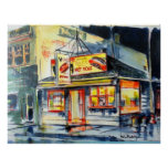"""36""""x24"""" Red Hot Ranch Watercolor Chicago Print"""