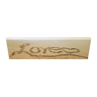"""36"""" x 12"""" Canvas Print Love Written In the Sand"""