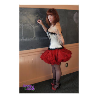 "36"" x 24"" Chrissy Kittens Chalkboard Poster"