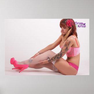 "36"" x 24"" Chrissy Kittens Pink Heels Poster"