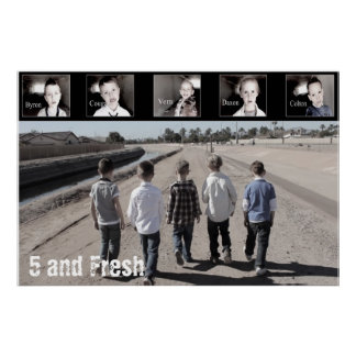 """36"""" x 24"""" Five and Fresh Poster-Walking Poster"""